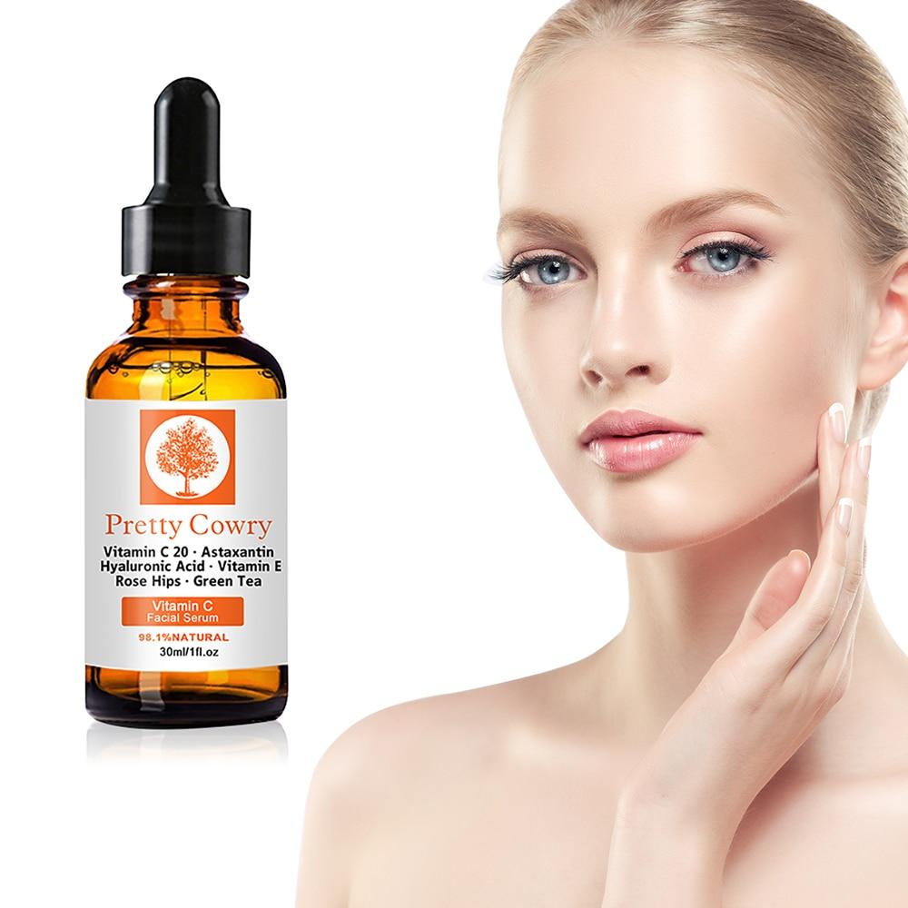 30ml Vitamin C Essence Original Liquid Facial Moisturizing Essence Hyaluronate Moisturizing Brightening Anti-aging Skin Care недорого