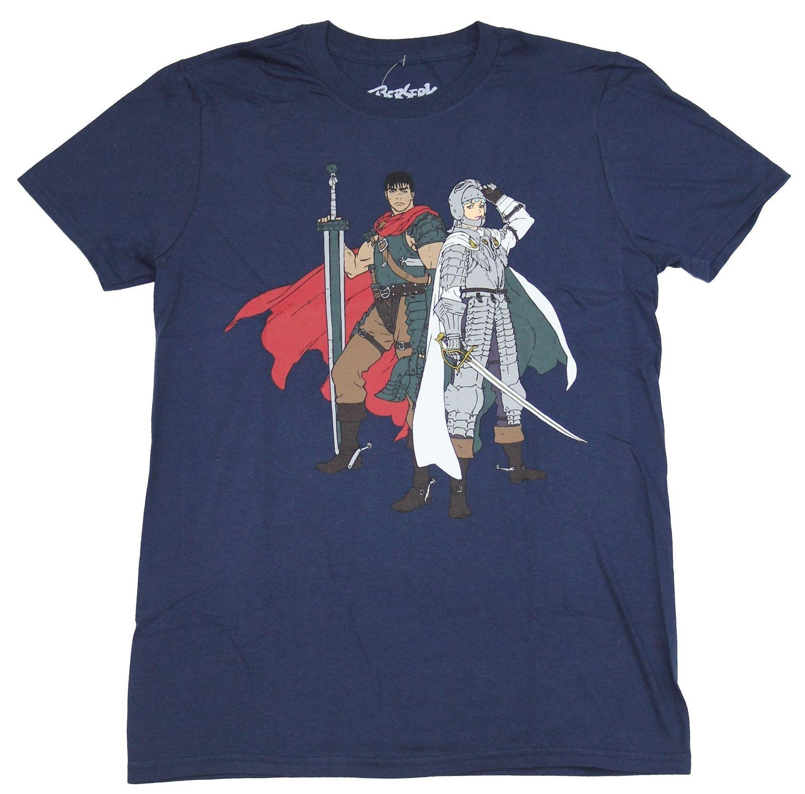 Berserk película para hombre Camiseta-Guts & Griffith Standing Battle Ready Cartoon camiseta hombres Unisex nueva camiseta de moda envío gratis