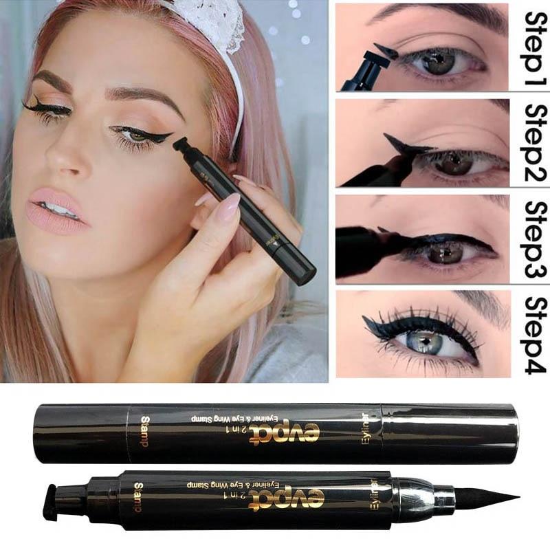Фото - 2 в 1 карандаш для подводки глаз жидкая подводка для глаз карандаш для макияжа Печать Карандаш для подводки глаз карандаш водостойкая быстро... nyx карандаш для глаз