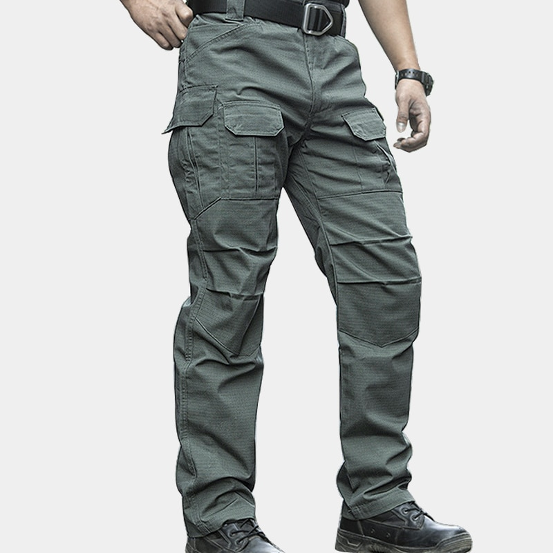 s 3xl men casual cargo pants elastic outdoor hiking trekking army tactical sweatpants camo military combat multi pocket trousers Men's Cargo Pants Army Military Style Tactical Pants Male Camo Jogger Plus Size Cotton Many Pocket Men Camouflage Black Trousers
