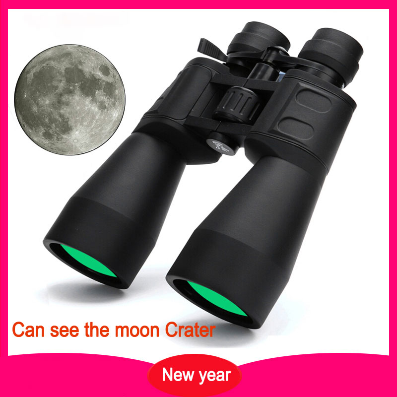 Binoculars Zoom HD 10-60 with Broadband Film High Telescope Professional for IPX6 Magnification Hunting Green 10-380X100 Times M