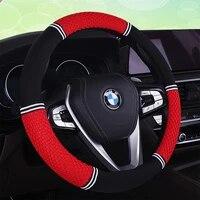 car steering wheel cover coprivolante auto couvre volant voiture suitable 37 38cm auto accessories interior decoration accesorio