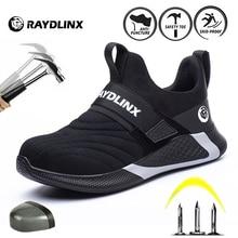 RAYDLINX 2020 nouveau respirant maille chaussures de sécurité hommes lumière Sneaker Indestructible acier orteil doux Anti-piercing travail bottes