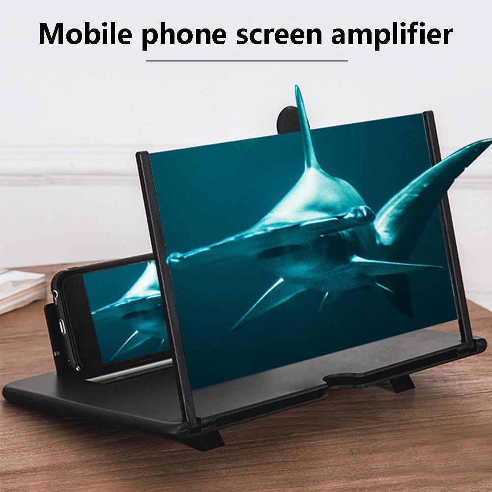 Hobbylane 10 polegada tela do telefone amplificador de lupa hd vídeo telefone suporte d21