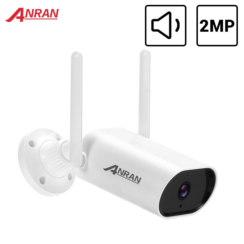 ANRAN-كاميرا مراقبة خارجية IP wifi hd 2MP/1080P ، جهاز أمان لاسلكي ، مقاوم للماء ، مع رؤية ليلية وتطبيق للتحكم الصوتي