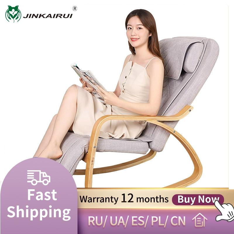 Jinkairui-كرسي مساج هزاز كهربائي متعدد الوظائف ، كرسي تدليك صغير لكامل الجسم للترفيه والتدفئة المنزلية والاهتزاز ، 2021