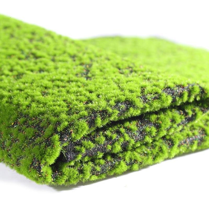 Alfombra de césped Artificial césped de musgo falso césped sintético DIY césped Artificial esteras de césped alfombra de césped decoración de boda