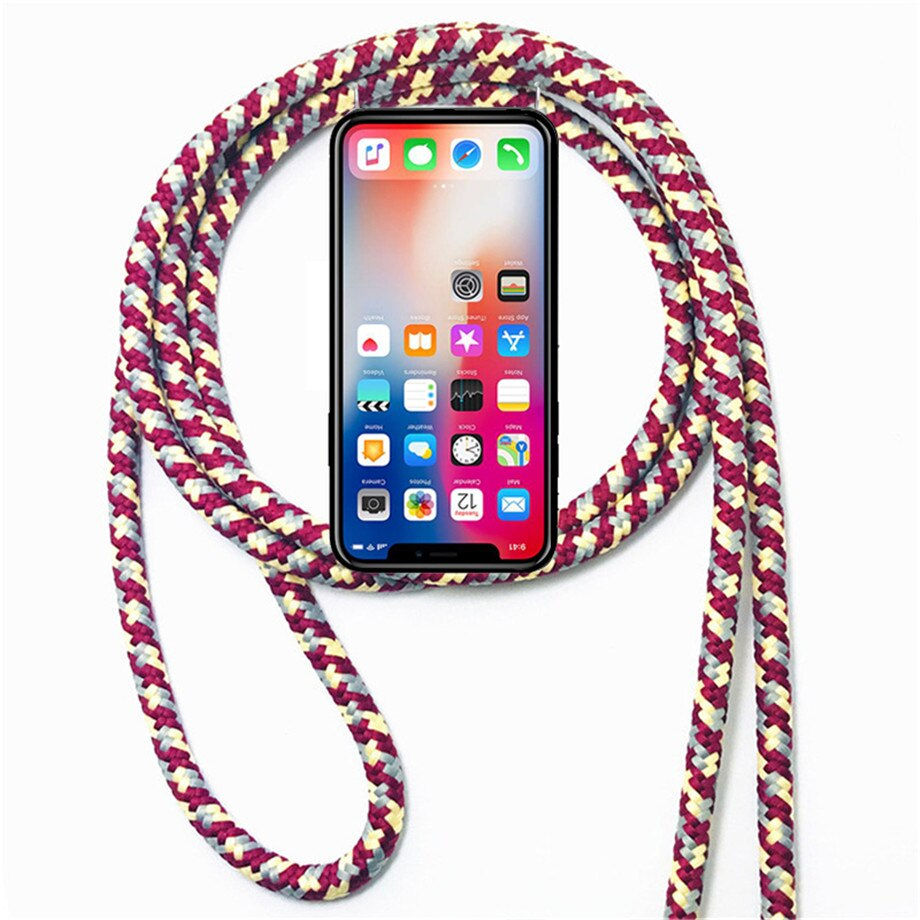 TPU Case for Sony Xperia X Performance Mini XA XA1 XA2 10 Plus XA3 Ultra C6 Necklace Shoulder Neck Strap Rope Cord Cover