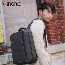 Kongsons VK carré mode affaires sac dordinateur USB charge anti-vol urbain voyage sac à dos pour les jeunes hommes