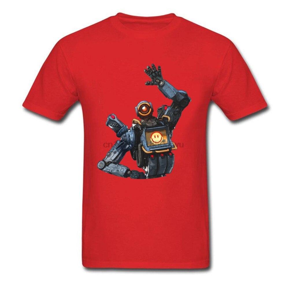 Camiseta roja Apex Legends Lifeline, Camiseta de algodón puro con cuello redondo, camiseta personalizada de verano y otoño para hombre