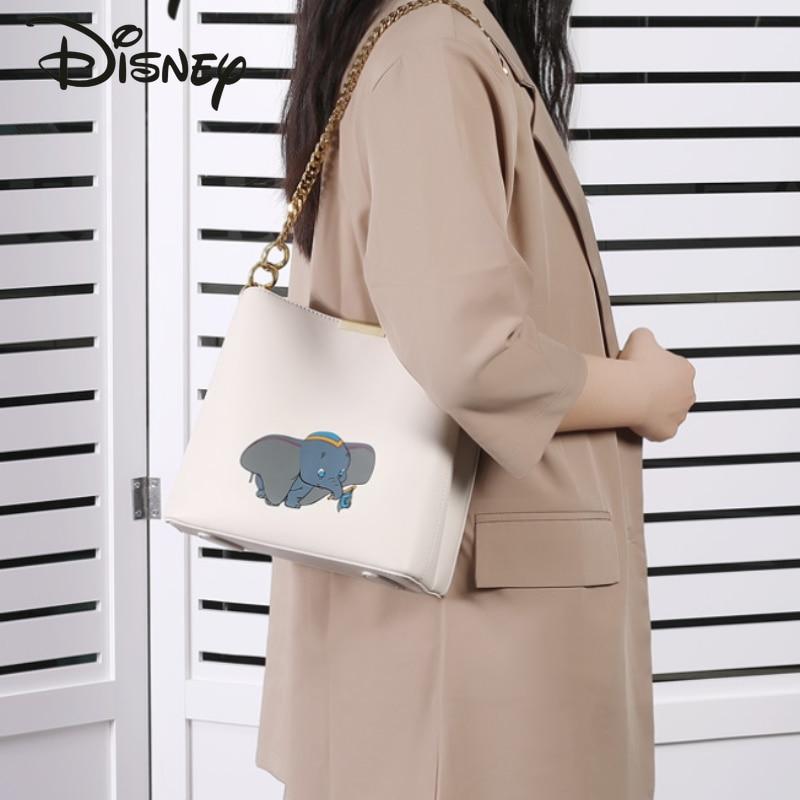 Disney Cartoon Dumbo Lady Shoulder Bag Fashionable Multifunctional Large Capacity Storage Bag High Quality Luxury Crossbody Bag
