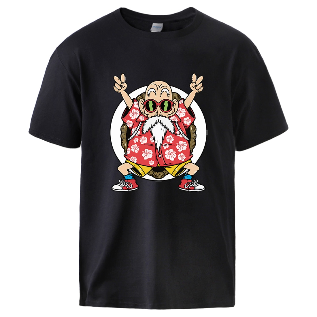 Dragon Ball maestro Roshi impresión T camisas de hombre de algodón de verano Tops 2020 hombre marca de Venta caliente de manga corta Jersey ropa deportiva Casual