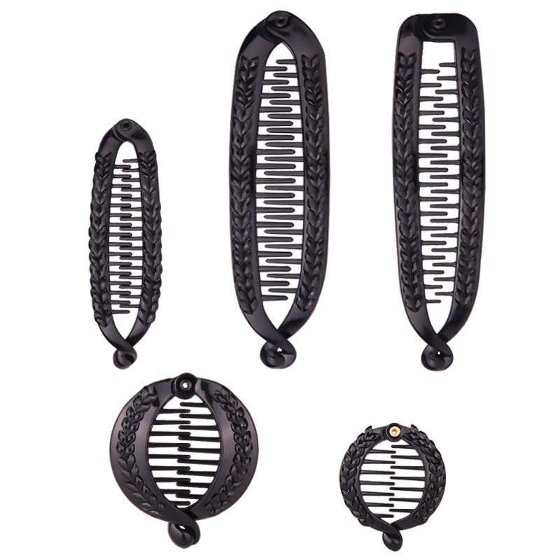 AliExpress - Korean Banana Clip Hair Comb Hair Claws Clip Creative Fish Shape Banana Barrettes Black Women Hair Accessories Hairdressing comb