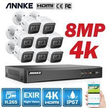 ANNKE 4K HD Ultra Clear 8CH Video Security System H.265 + DVR Mit 4X 8X 8MP IR Outdoor Wetter CCTV Überwachungs Kamera Kit