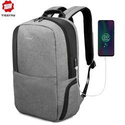 "Tigernu marca homens anti roubo 15.6 ""usb portátil mochila feminina moda mochilas masculino saco de negócios saco escola para adolescentes"