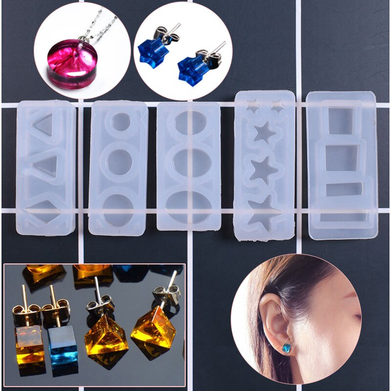 Diy Хрустальная эпоксидная гелевая силиконовая форма, ювелирные изделия, серьги, силиконовая форма, овальная звезда, подвесная форма
