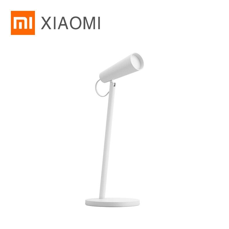 شاومي MIJIA Mi LED الجدول مصباح USB شحن قراءة مكتب مصباح دراسة مكتب الجدول ضوء المحمولة السرير ضوء الليل 120 دوران
