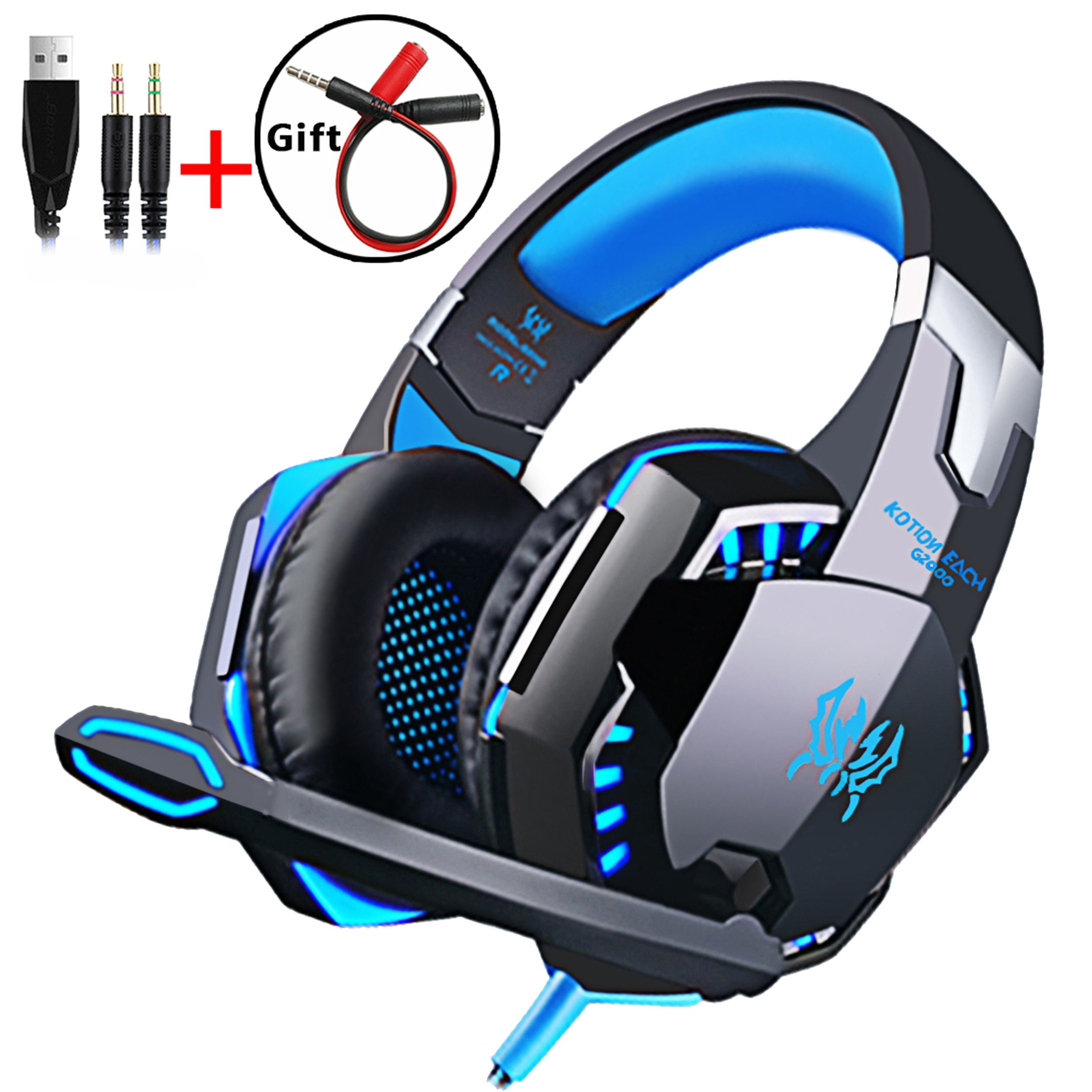 Wired Gaming Headset Headphones Surround sound Deep bass Stereo Casque Earphones with Microphone For