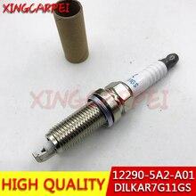 Hot 4pcs/lot Dual Iridium Spark Plug 12290-5A2-A01 DILKAR7G11GS Fit For Honda Accord Civic Acura ILX 122905A2A01 DILKAR7G11GS