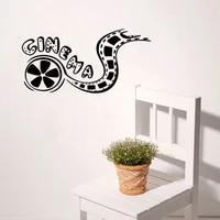Autocollant mural en vinyle avec bande de Film  decoration de maison  papier peint amovible  affiche de decoration de salle