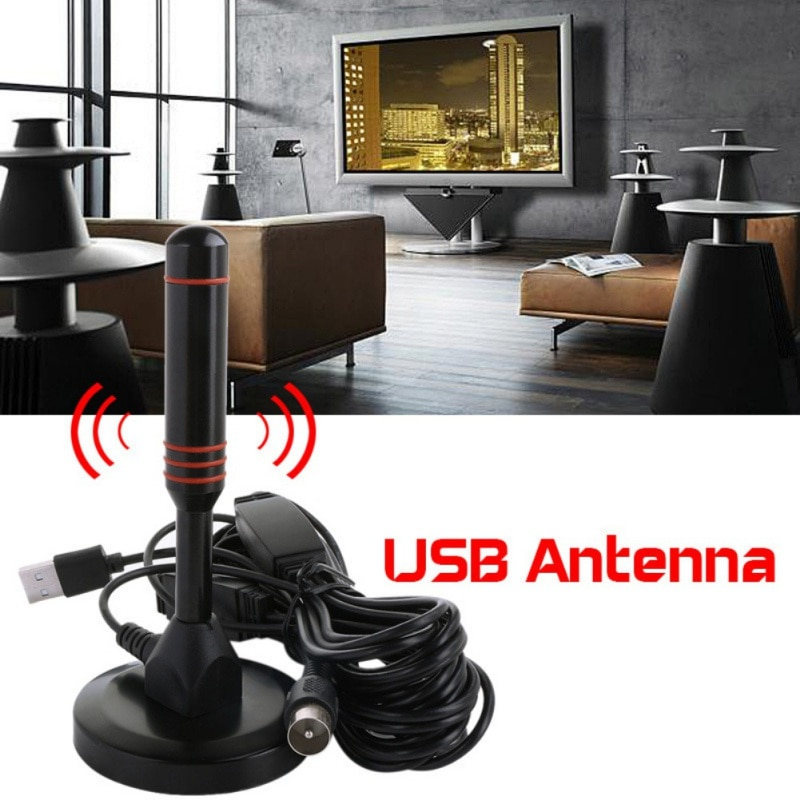 Alto do Ganho de Digitas Fácil de Instalar Varia o Skywire 12db para a Tevê de Dvb-t 4k da Antena da Tevê Interno Hdtv 1080 Milhas * 1280 p hd
