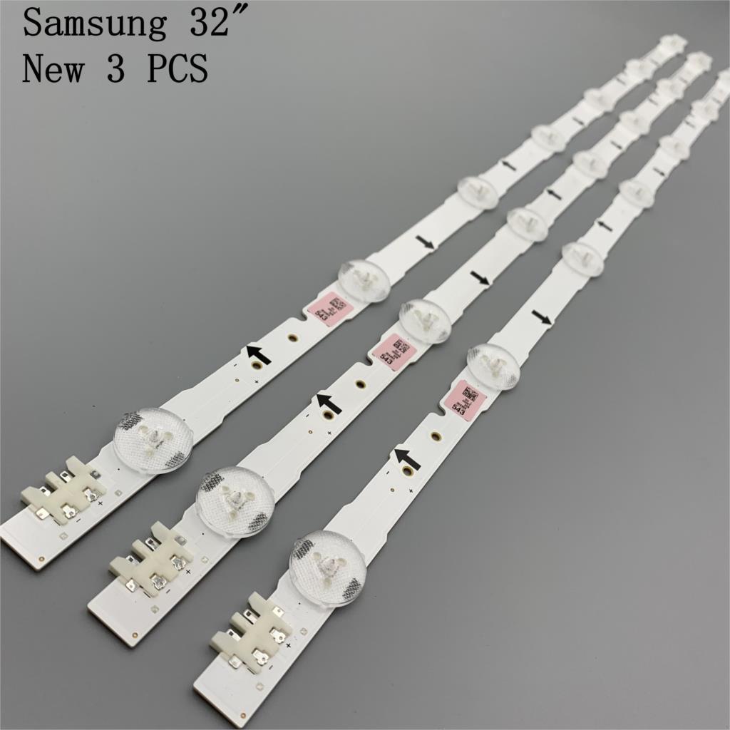 (Novo kit) 3 pçs 7leds 650mm led backlight strip para sam sung 32 Polegada tv 2014svs32hd D4GE-320DC0-R3 CY-HH032AGLV2H