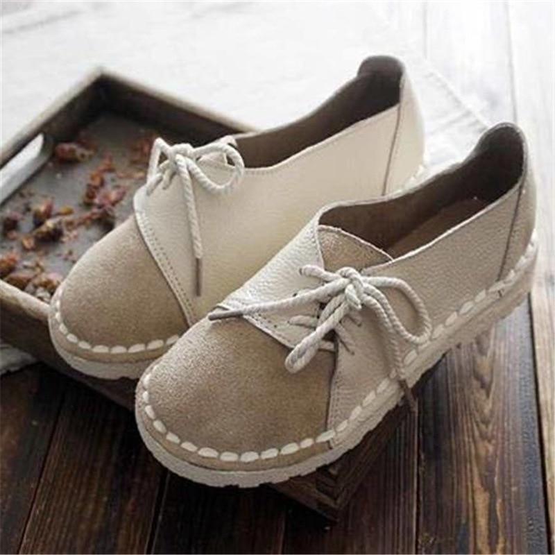 GM47-4 كبير مستديرة رئيس اللون مطابقة الأحذية الفول ins تنوعا شيك لينة فتاة واحدة حذاء المرأة 2020 أحذية جديدة لينة وحيد