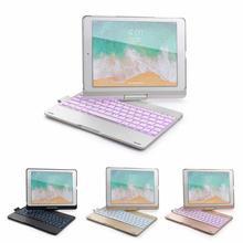 Caso de teclado inteligente capa bluetooth sem fio teclado capa 7 cores retroiluminação tablet teclado caso para ipad 9.7/pro 9.7/air1/air2