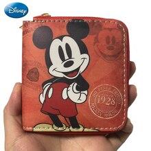 Disney 2021 New Cute Mickey Minnie Luxury Ladies Wallet Short PU Zipper High Quality Clutch Bag Stud