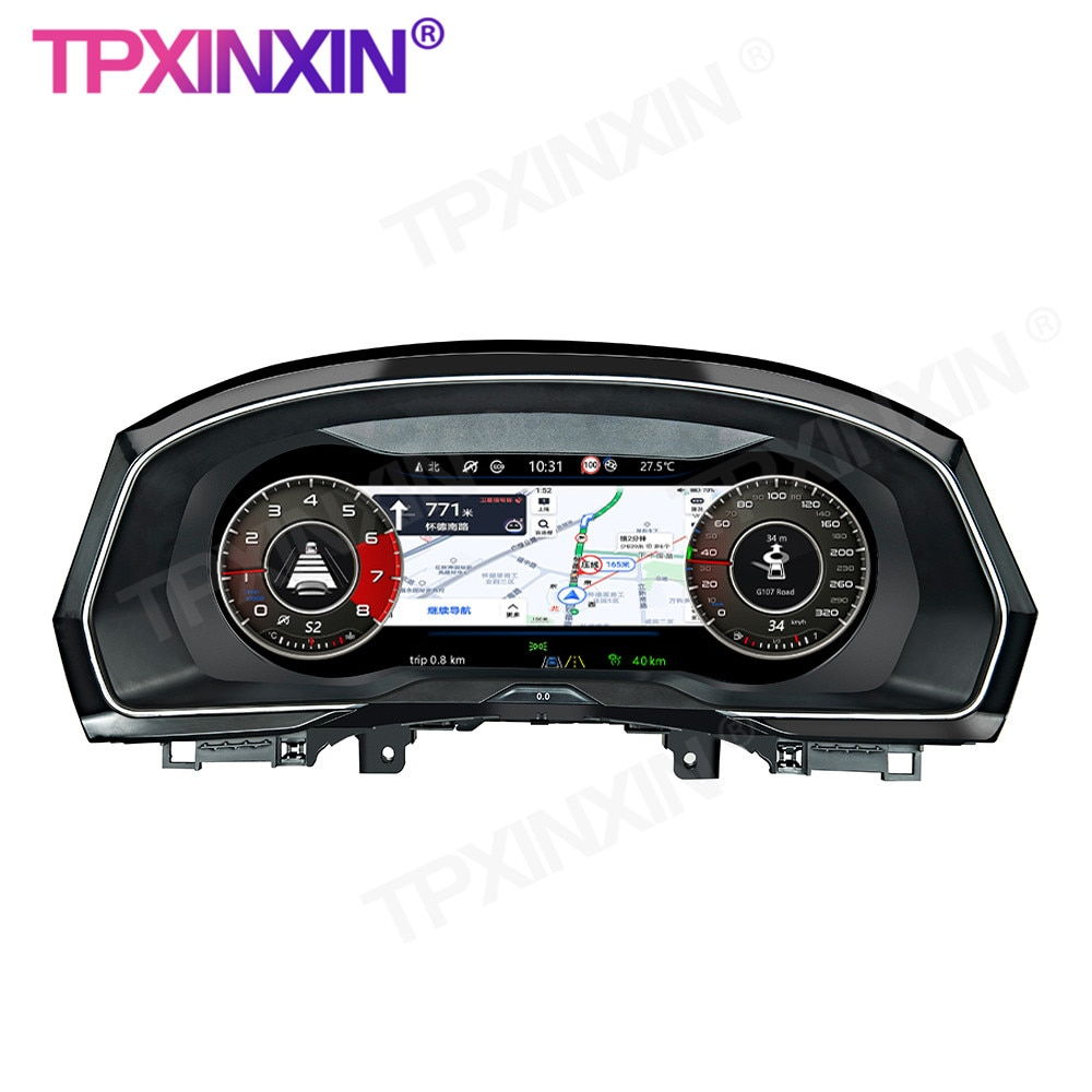 12.5''For VW B8 PASSAT CC golf 7 GTI Variant Car LCD Instrument Panel Replacement Dashboard Entertai