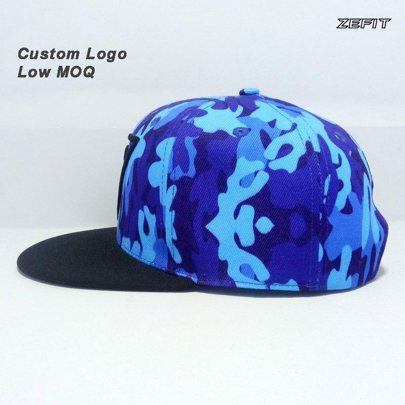 Cap Custom Full Printing Color 3D Printed Logo Fitted Closer Football Tennis Hat Team Ball Player Baseball Custom Flat Brim Hat