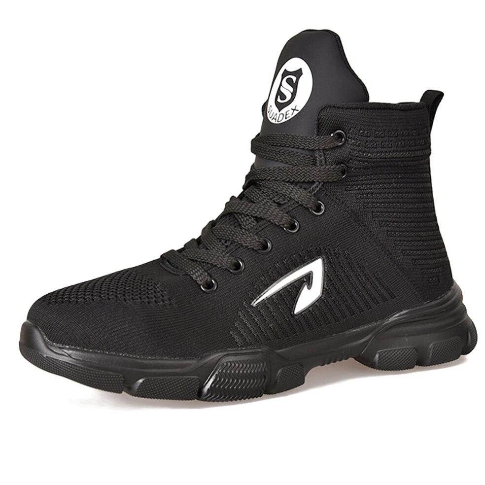 Sitaile botas de segurança de trabalho respirável sapatos de homem sapatos de trabalho antiderrapante inverno veludo para manter sapatos de segurança quentes botas macias