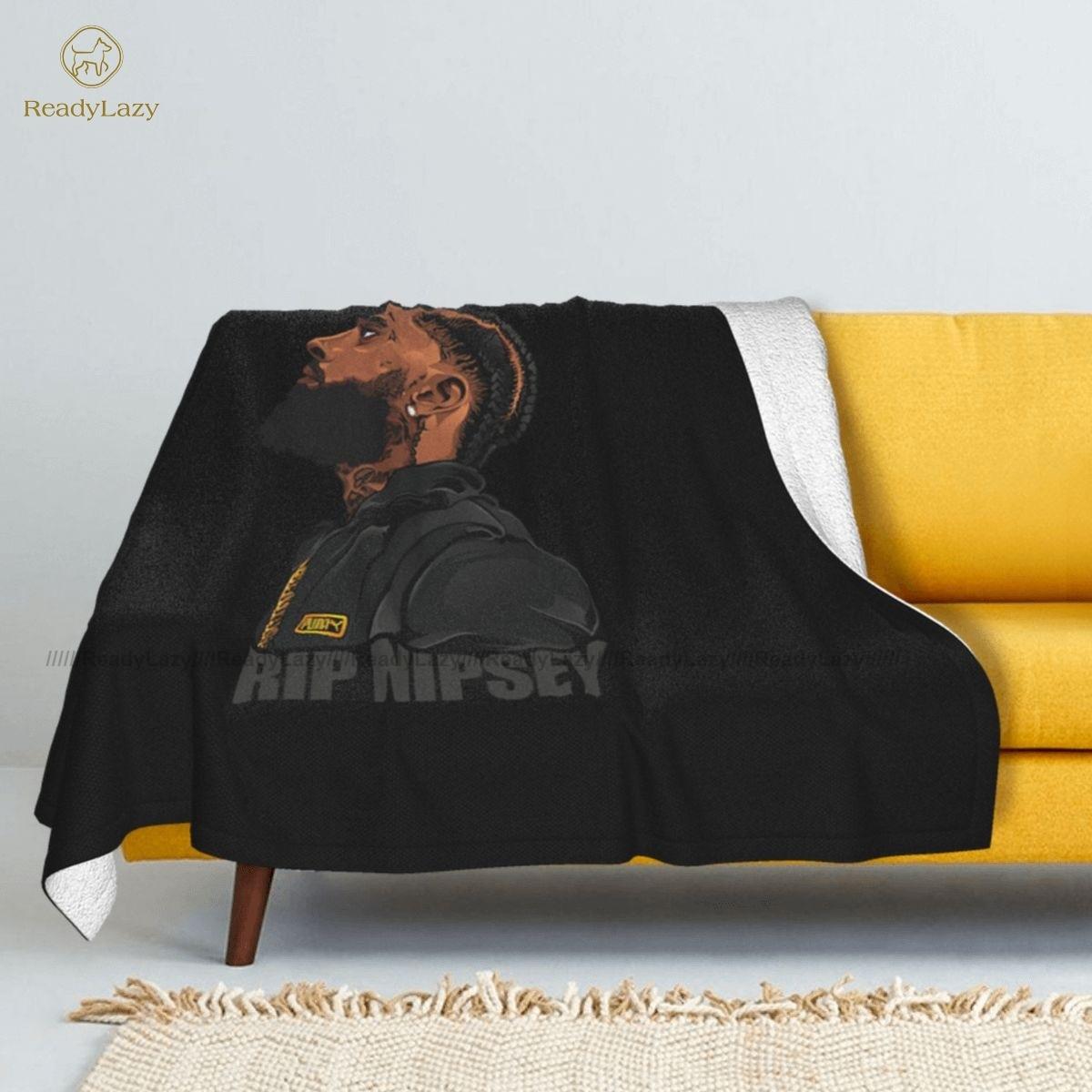 بطانية نيسي هوسيل بغطاء سرير ناعم للغاية على الموضة بطانية كرسي شيربا صوف مريحة