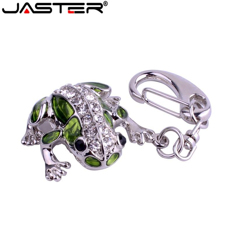 JASTER crystal frog model USB Flash Drive 4GB 8GB 16GB 32GB precious stone pen drive special gift