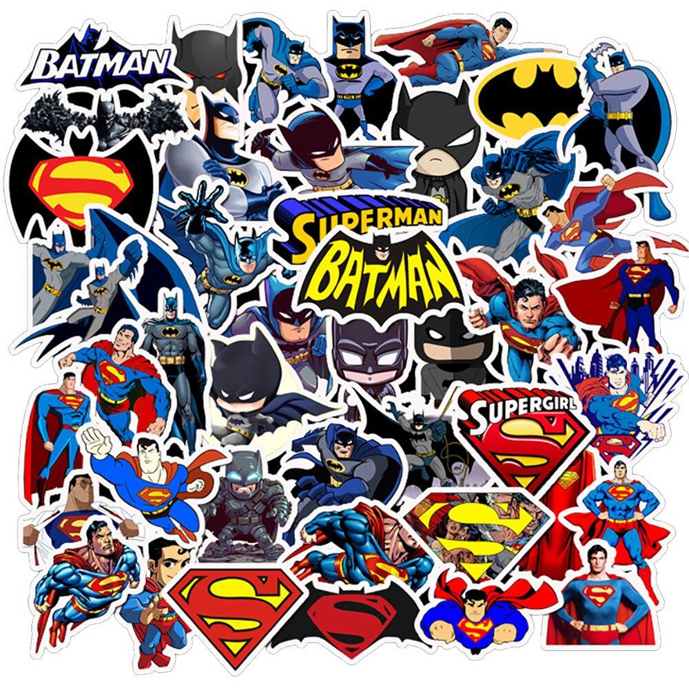45 шт. наклейки Супермена из фильма Бэтмен Сделай Сам телефон сноуборд ноутбук багаж холодильник гитара граффити водонепроницаемый шутка классические наклейки