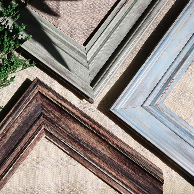 Vintage Wood Photo Frame Elegant Ornament Gallery Display Living Room Picture Frame Design Gifts Marco Fotos Home Decor DF50XK