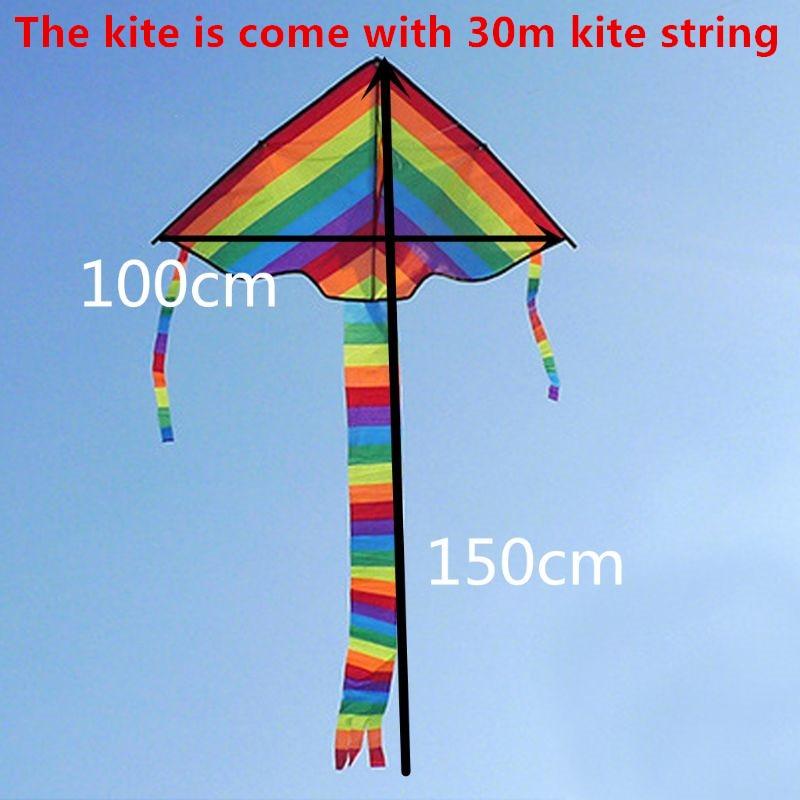 1 peca nova longa cauda arco iris kite ao ar livre kites voadores brinquedos para