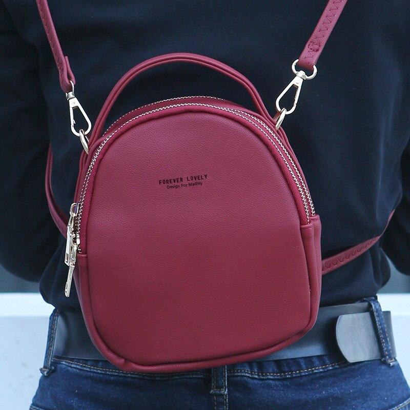 Летний женский кожаный рюкзак, однотонный Кошелек для монет, женская модная сумка на молнии, женский рюкзак, женский рюкзак