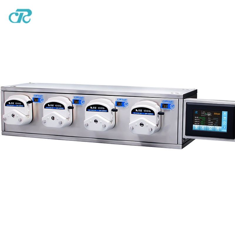 CR Cosmetic Products Filling Peristaltic Pump System with 4 filling heads enlarge