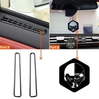 2pcs air outlet sticker anti scratch wear resistant carbon fiber car window air outlet sticker for nissan gtr r35 2008 2016