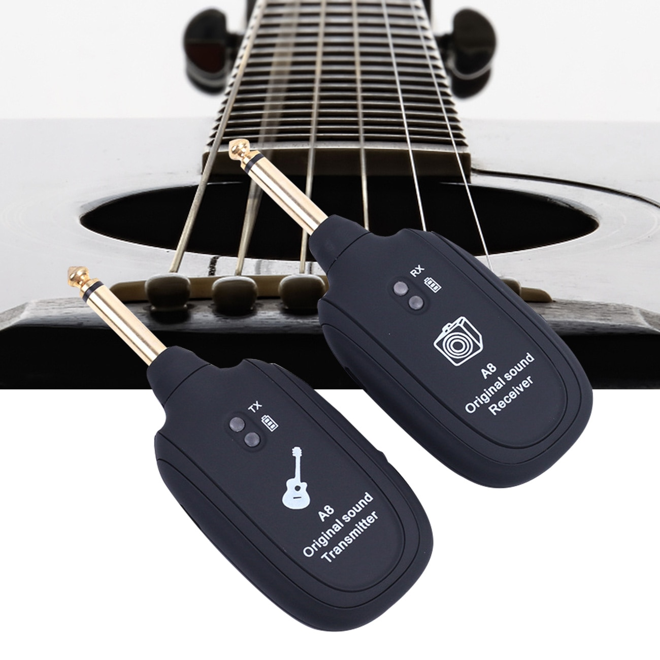 2pcs UHF Guitar Wireless System Transmitter Receiver Wireless Original Sound Guitar Transmitter Built-In Rechargeable Battery enlarge