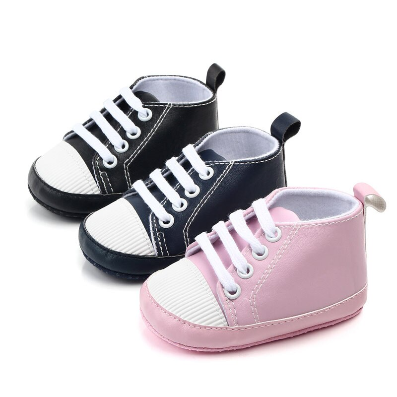 Newborn Shoes Infant Baby Girls Boys Anti-slip Prewalker Casual Flats Canvas Sneakers Shoes Fashion Causal First Walkers