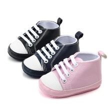 Newborn Shoes Infant Baby Girls Boys Anti-slip Prewalker Casual Flats Canvas Sneakers Shoes Fashion