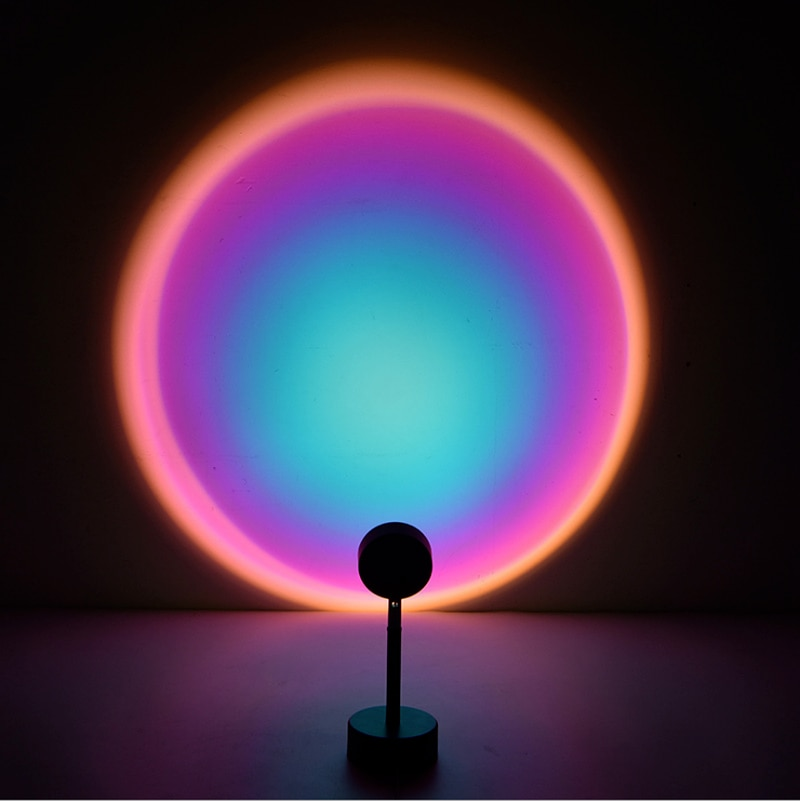 Sunset lamp Rainbow Projector Led Night Light Sun Projection Desk Lamp for Bedroom Bar Coffee Store Wall Decoration Lighting  - buy with discount