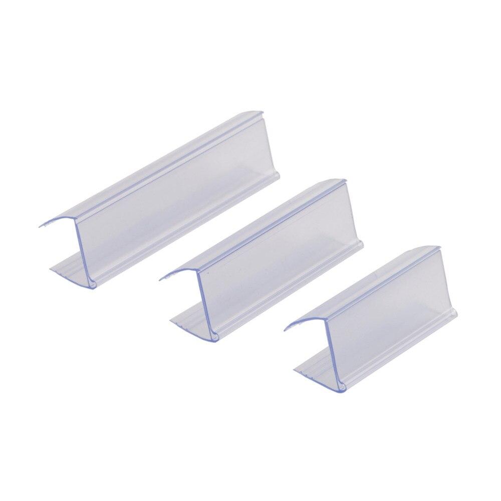 6cm x 2.25cm de vidro prateleira de madeira borda aperto tira prateleira talker pvc pop display plástico prateleira titular da etiqueta