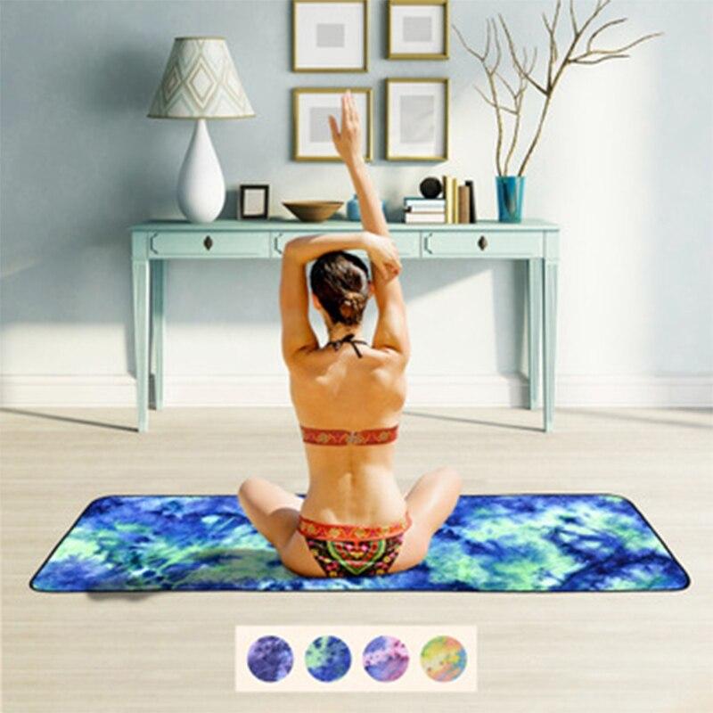 Colchoneta plegable y portátil para Yoga, toalla para Yoga, súper suave, absorbente, antideslizante, colchoneta para Yoga y ejercicio físico