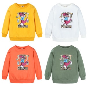 children's wear spring/autumn new children's hoodie cartoon printed pullovers, version of the loose-fitting boys' long sleeves