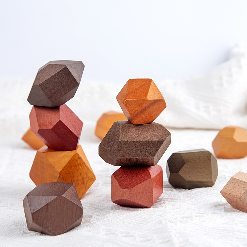 Фото - New INS Nordic style wood beech wood foreign trade early education educational toys for children Pai stacked stone wood and stone about