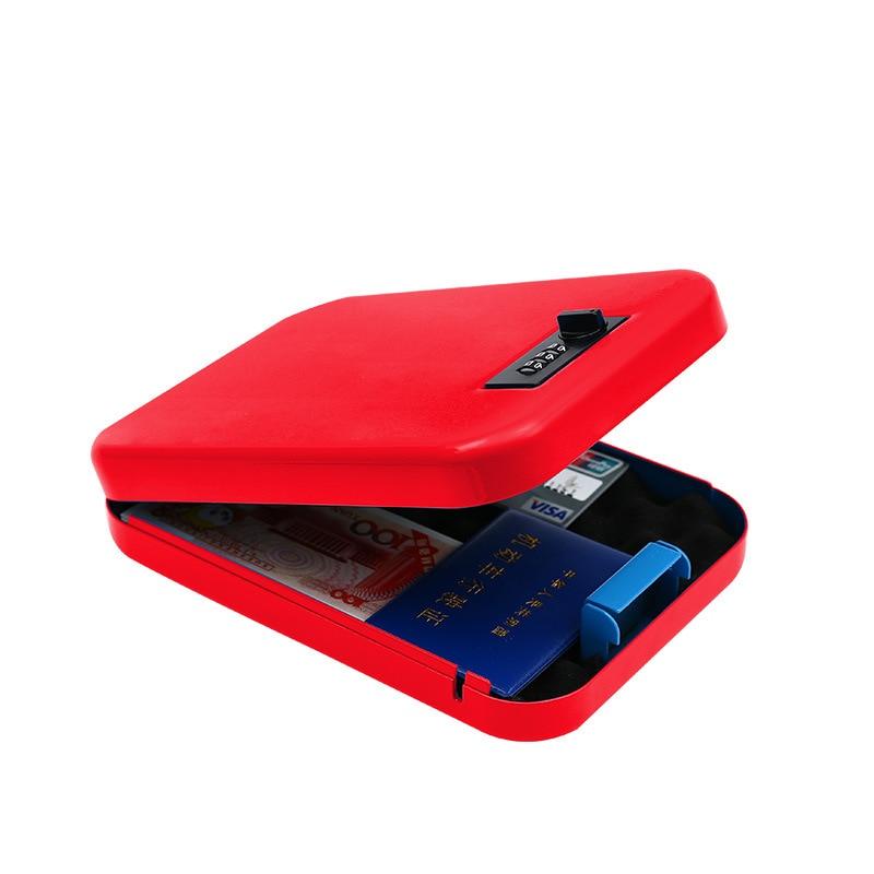 قفل رقمي لبندقية كلمة المرور ، صندوق أمان محمول من الفولاذ المطلي على البارد للسيارة ، تخزين الأشياء القيمة النقدية ، منظم المجوهرات