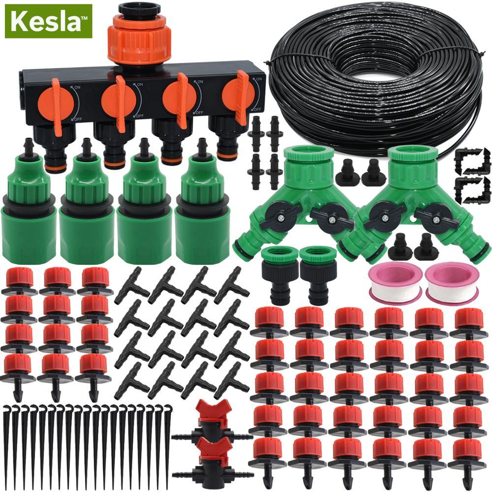 KESLA 5M-50M DIY микро система капельного орошения капельница самополив сад балкон шланг комплект с регулируемой капельницей теплицы